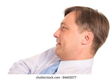 portrait of a   businessman on a white