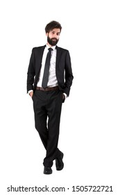 Portrait businessman posting with white background.