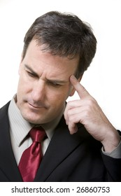 Portrait of businessman thinking