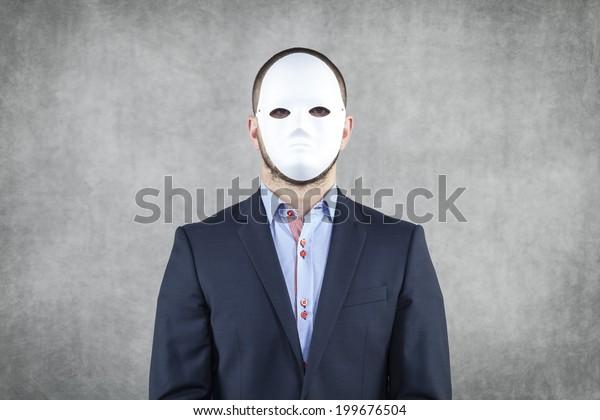 Portrait of a businessman wearing a mask