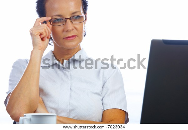 portrait of  businesswoman doing her job in office environment