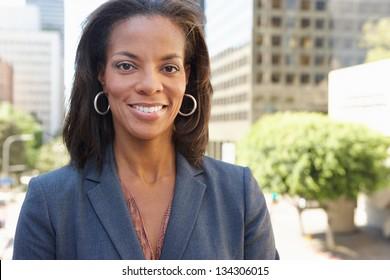 Portrait Of Businesswoman Outside Office