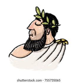Portrait of Caesar illustration
