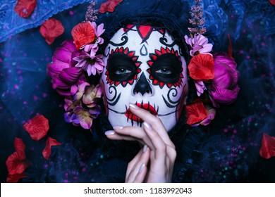 portrait calavera catrina sugar skull 260nw