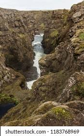 Portrait of Kolugljúfur Canyon, Iceland