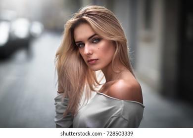 Portrait of a caucasian model