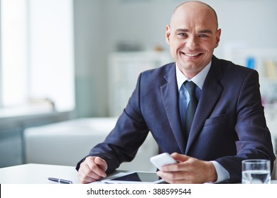 Portrait of a ceo looking at camera and smiling