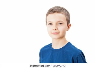 Portrait of a charming teenage boy