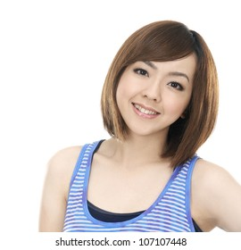 Portrait of a charming young teenagers girl smiling