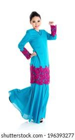 Portrait of a cheerful muslim woman