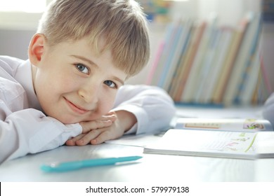 Portrait of cheerful student elementary school