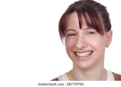 Portrait of a cheerful young woman