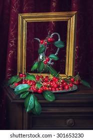 Portrait of cherries