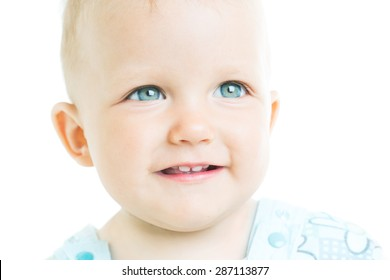 Portrait of a child aged one year