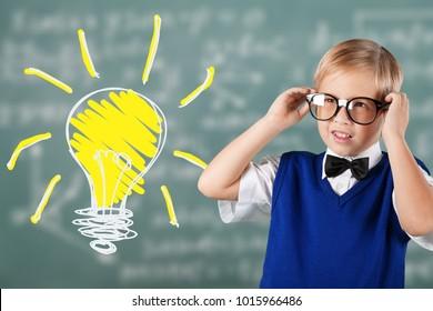 Portrait child in classroom