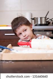 Portrait - Child in a kitchen