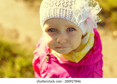 Portrait of a child looking at the camera