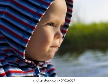 Portrait of child in profile