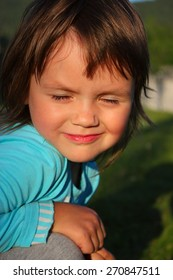 portrait of a child in the sun