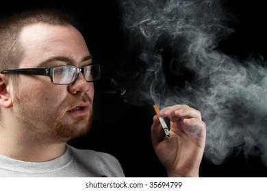 Portrait with cigarette