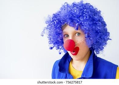 A portrait of a clown