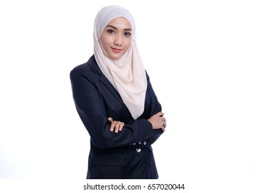 Portrait of Confidence Muslim Business woman