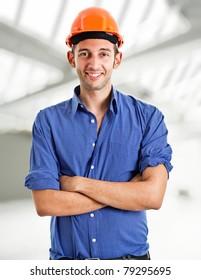 Portrait of a confident architect