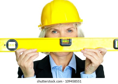 Portrait of confident architect with diy tool looking at camera