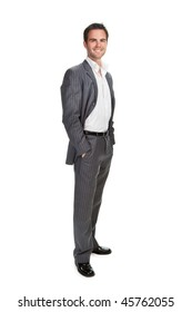 Portrait of confident business man isolated over white background