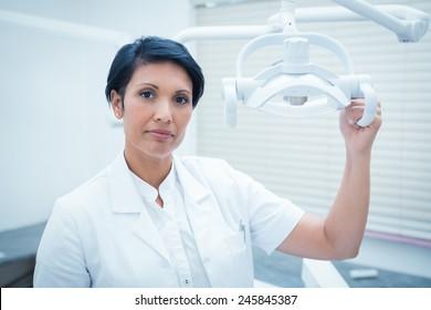 Portrait of confident female dentist