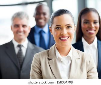 portrait of confident group business people
