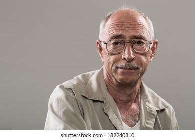 Portrait of a Confident Senior Man with a Smile