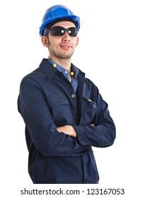 Portrait of a confident worker