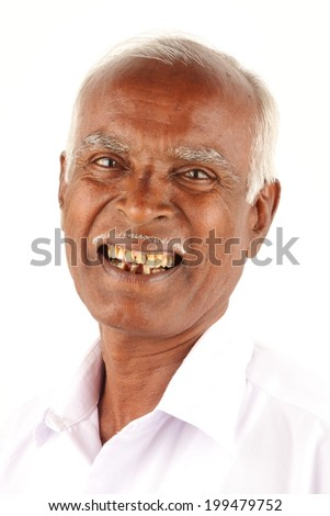 Portrait Cool Happy Asian Indian Old Man Stockfoto Jetzt Bearbeiten
