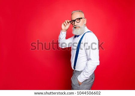 7da0915b88e1 Portrait Cool Manly Fashionable Old Man Stock Photo (Edit Now ...
