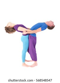 Portrait of a couple in yoga pose