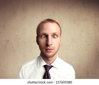 Portrait of a cross-eyed man