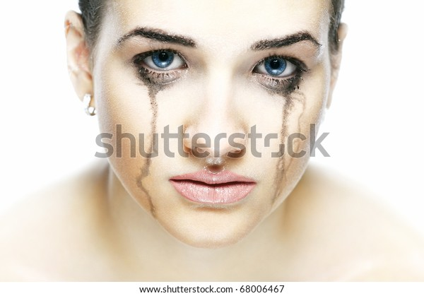 Portrait of the crying girl