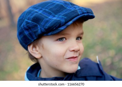 Portrait of cunning little boy, outdoor
