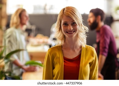 Portrait of a customer in the bar