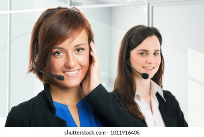 Portrait of customer representatives at work