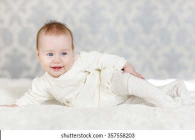 Portrait Cute 3 Months Baby Lying Stock Photo Edit Now 357558185