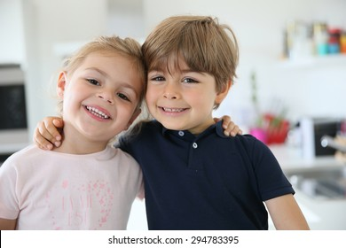 Portrait of cute 4-year-old kids