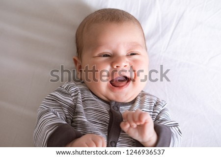 5a37691c5 Portrait Cute Adorable Baby Boy Lying Stock Photo (Edit Now ...