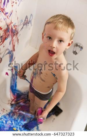 Portrait Cute Adorable White Caucasian Little Stock Photo (Edit Now ...