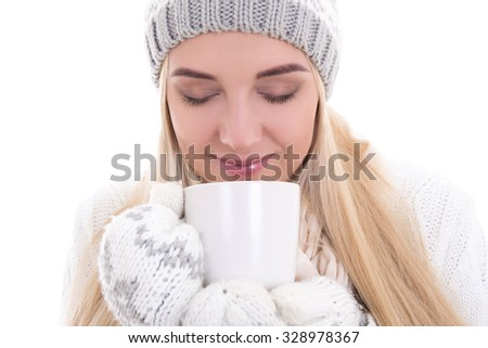 bdb5b73db22d Portrait Cute Beautiful Woman Winter Clothes Stock Photo (Edit Now ...