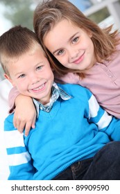 Portrait of cute brother and sister