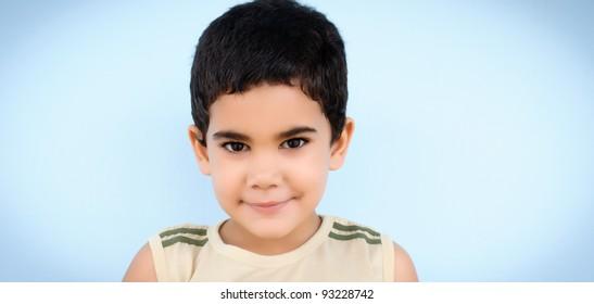 Portrait of a cute hispanic boy