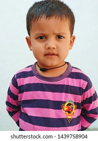 The portrait of  the cute Indian Muslim Kid.