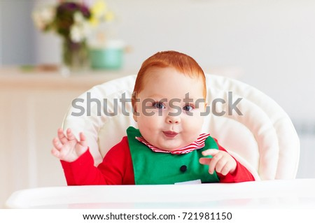 32d0b7680d37 Portrait Cute Infant Baby Boy Elf Stock Photo (Edit Now) 721981150 ...